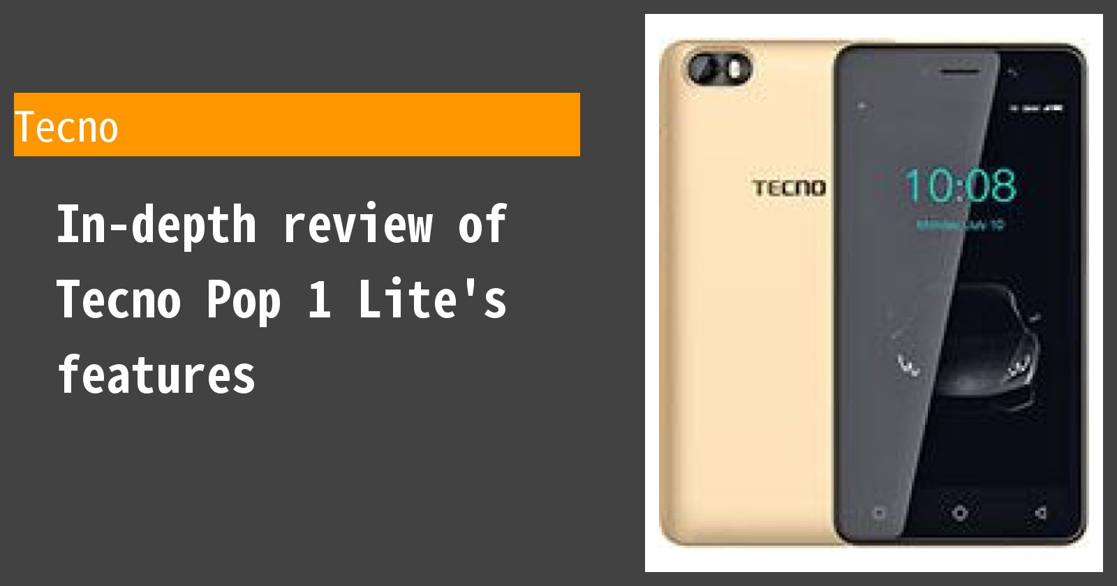 What are the advantages and disadvantages of Tecno Pop 1