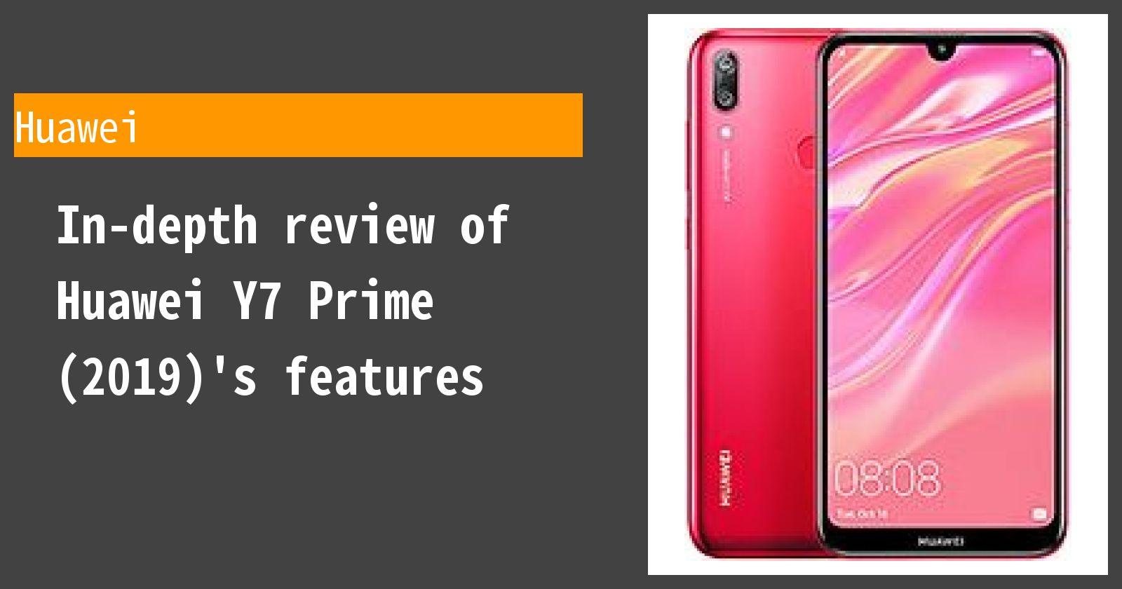 Huawei Y7 Prime 2019 Specs